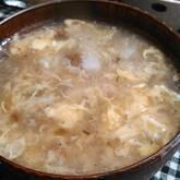 長芋と梅の卵スープ