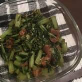 青菜と油揚げのゴマ和え