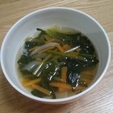ホウレン草と玉ネギのスープ