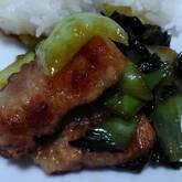 タケノコと豚の甘辛炒め