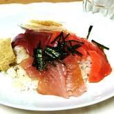 お刺身寿司夕食