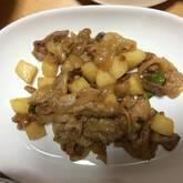 豚肉と長芋の甘みそ炒め