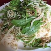 シラスと素麺のサラダ