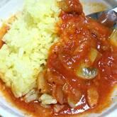 鶏肉のケチャップ煮ライス