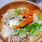 白菜の中華丼