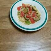 ゴーヤとトマトのアンチョビパスタ