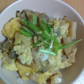アサリと卵の丼