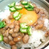 ふんわり納豆の卵かけご飯