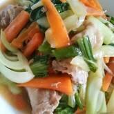 豚肉とチンゲンサイの中華炒め