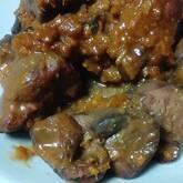 鶏レバーのショウガみそ煮