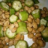 オクラと納豆の小鉢