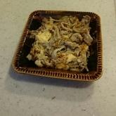 豚肉とキノコの卵炒め