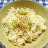 ホタテ入り豆ご飯