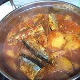 サンマのキムチ煮(コンチキムチチム)