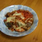 鮭のトマト煮チーズのせ