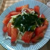 ワカメとプチトマトの和風サラダ