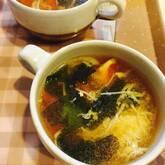 トマトとワカメのスープ