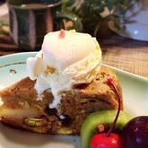 リンゴとサツマイモのケーキ