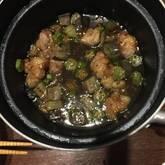 ナスと鶏肉の揚げ煮