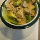 ゆで鶏と野菜のゴママヨがけ