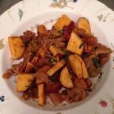 豚とサツマイモの辛みそ炒め