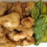カボチャと鶏肉の揚げ浸し