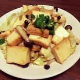 キャベツと厚揚げの炒め物