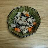 ヒジキと高野豆腐の煮物