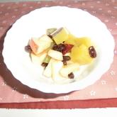 サツマイモとリンゴのサラダ