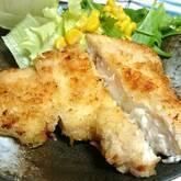 お手軽衣で白身魚の揚げ焼き