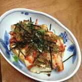 キムチのせ豆腐ステーキ