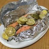 鮭のスダチホイル焼き