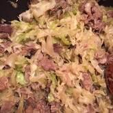 炒め牛肉のせご飯