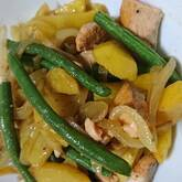鮭ポテトの炒め物