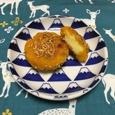 カボチャのチーズ入りゴマ団子