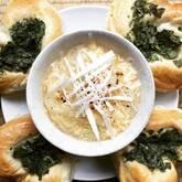 白ネギと餃子の皮のスープ