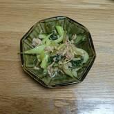チンゲンサイのツナ炒め