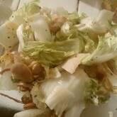 ベーコンと白菜の塩バター蒸し