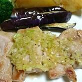 ポーク焼き肉ネギ塩タレ