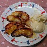 焼きリンゴとバニラアイス