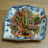豚と野菜のショウガ炒め
