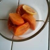 柿のコンポート