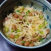 切干し大根と納豆のピリ辛和え
