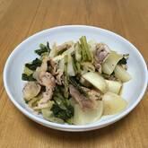 豚肉とカブの炒め煮