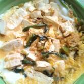 豆腐とホウレン草の卵とじ