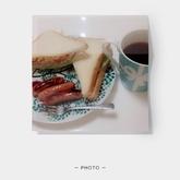 レンジ卵サンドトーストランチ
