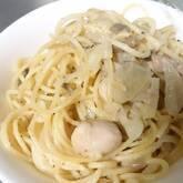 ポルチーニ茸のクリームスパゲティー