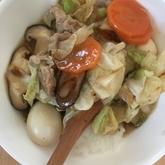 豚肉とエビの中華丼