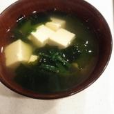 シンプルワカメのスープ