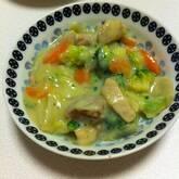 ブロッコリーとチキンの豆乳クリーム煮